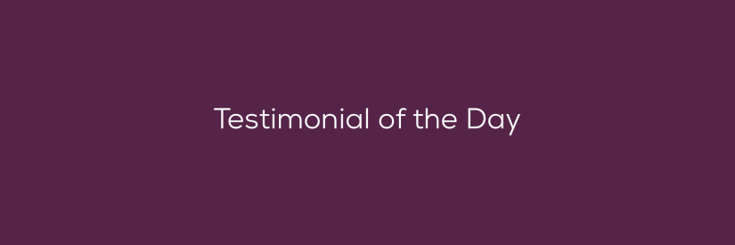 Testimonial of the Day – From Ashley