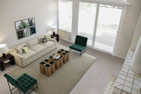 Virtually Staged Living Room